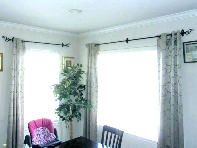 Comfortable Install Curtain Rod Ideas Elegant Install Curtain Rod