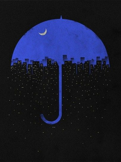 """Blue umbrella Rest upon my shoulder Hide the pain While the rain Makes up my mind."" Blue Umbrella- John Prine"