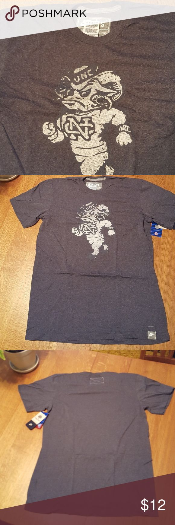 Nike University of North Carolina t-shirt NWT NIKE UNC logo tee in heathered grey Nike Shirts Tees - Short Sleeve