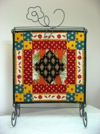 """Twelve times 12"""" by 12"""" :The finished May quilt."""