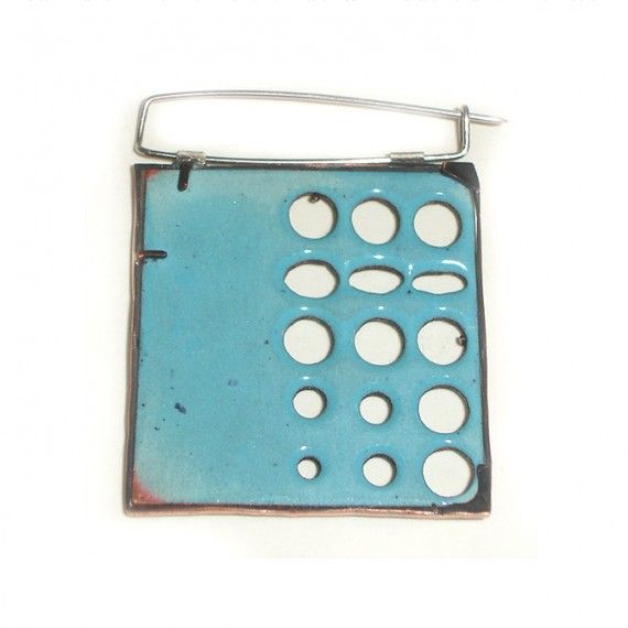 Large Reversible Enamel Brooch | Victoria Sewart Contemporary Jewellery Gallery, Plymouth, Devon