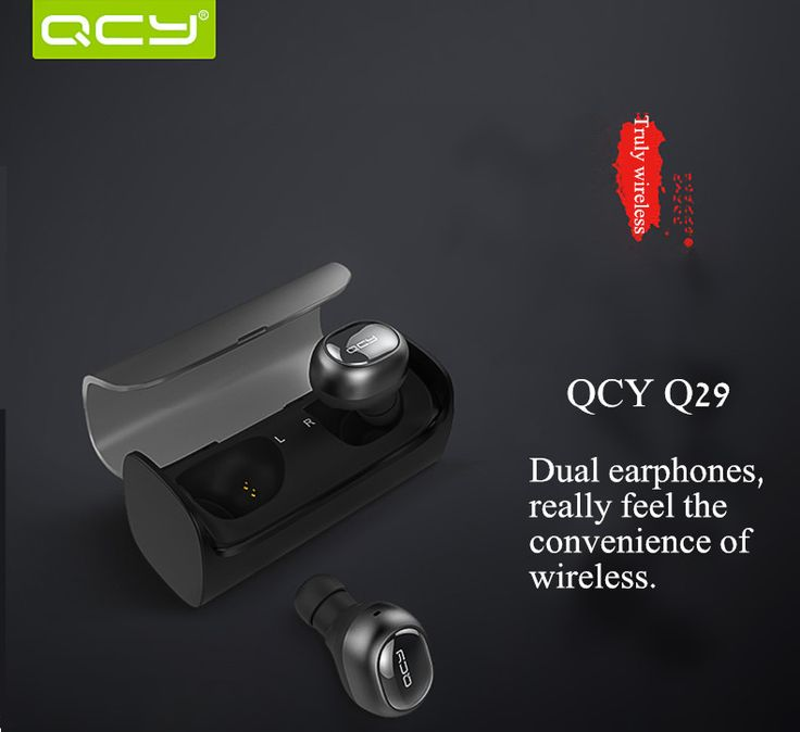 True Wireless QCY Q29 Mini Wireless Bluetooth 4.1 Double Dual Headphone Earphone With Charging Box