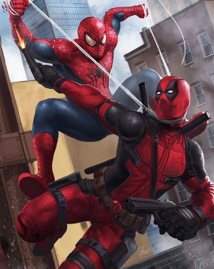 Картинки дедпул и человек-паук
