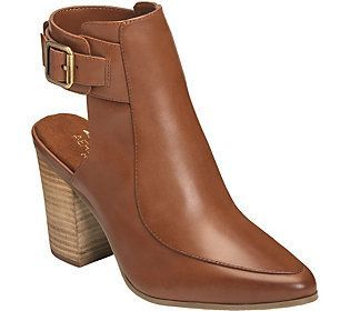 Aerosoles Heel Rest Backless Ankle Booties - Square Up