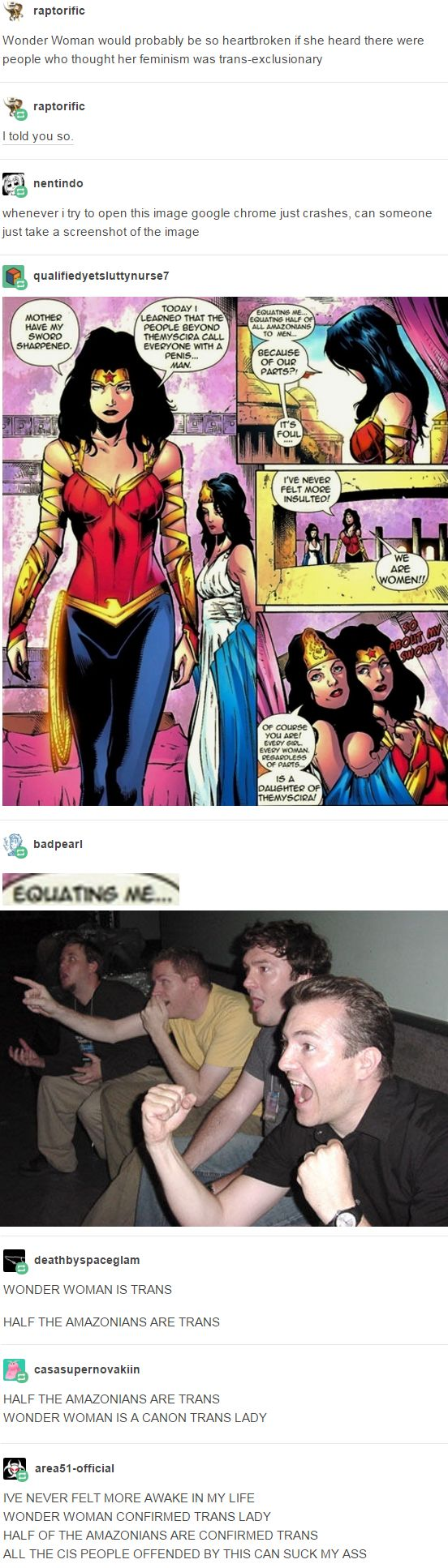 HALF THE AMAZONIANS ARE TRANS WONDER WOMAN IS A CANON TRANS LADY. http://narwhal-noir.tumblr.com/post/159001649165/area51-official-casasupernovakiin