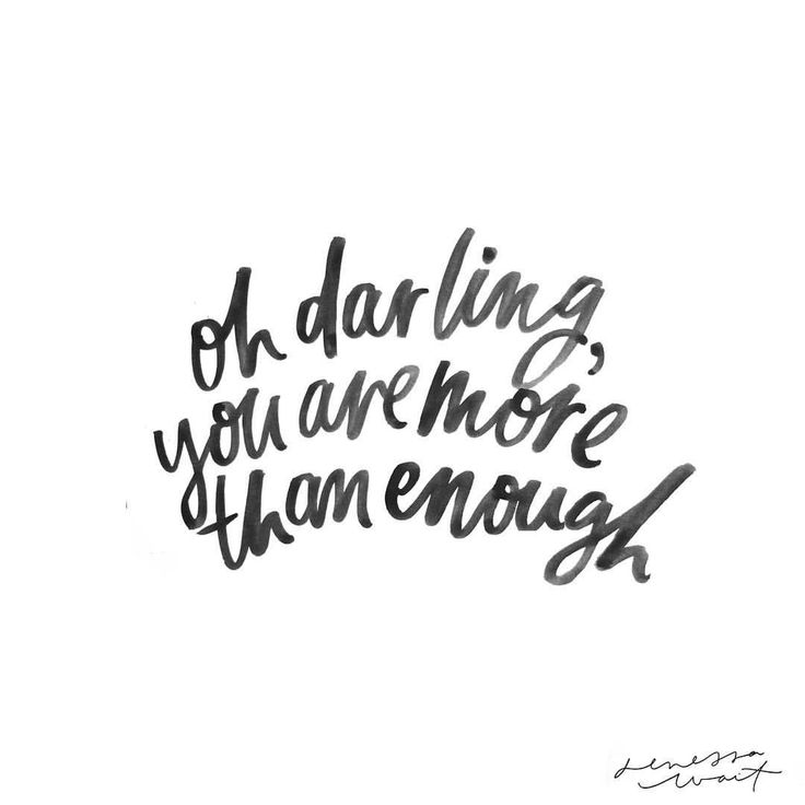 Because we all need a reminder that we are more than enough, as we are, right now❤️ #inspo #typography #handlettering