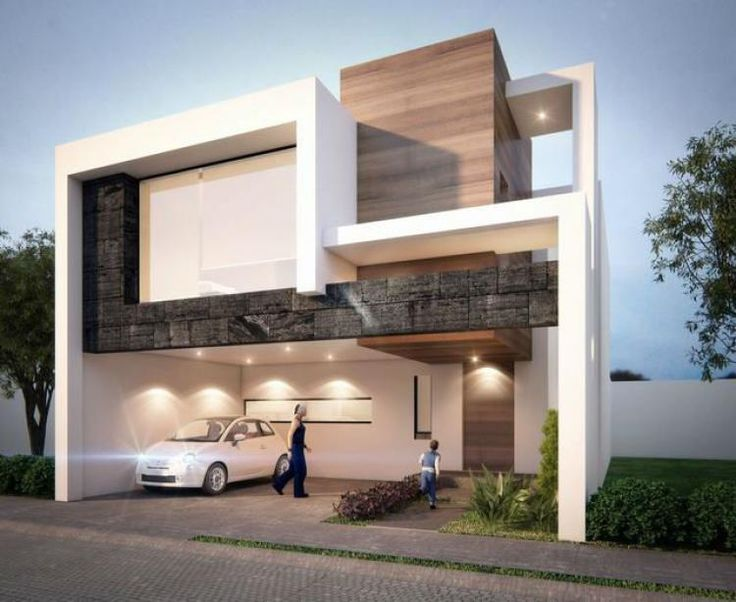 M s de 1000 ideas sobre fachadas de casas modernas en for Casa minimalista 2018