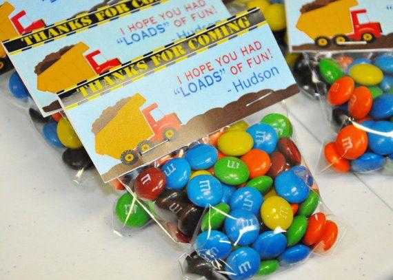 PRINTABLE CANDY BAG labels Under Construction Collection - Dump Truck - Memorable Moments Studio