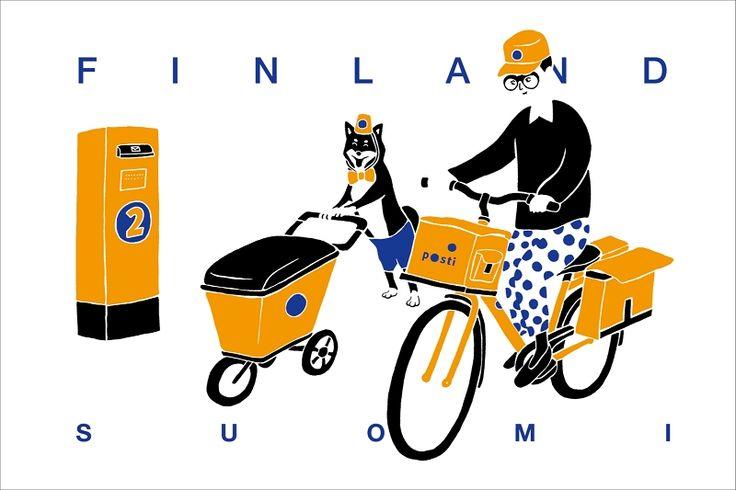 作品-郵差系列-芬蘭/畫廊-TENG YU ART DESIGN