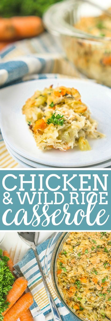 This easy chicken casserole recipe is a fun twist on the classic chicken and wild rice soup that the whole family will love for dinner all year long! Combine chicken, wild rice, carrots, celery, onions, seasoning and a light cheese sauce for a tasty Chicken and Wild Rice Casserole dinner! | The Love Nerds #chickenrecipe #casserolerecipe #dinneridea #chickenwildrice via @lovenerdmaggie