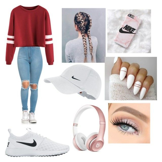 """""""Ootd"""" by jaraujo3 on Polyvore featuring NIKE and Beats by Dr. Dre"""