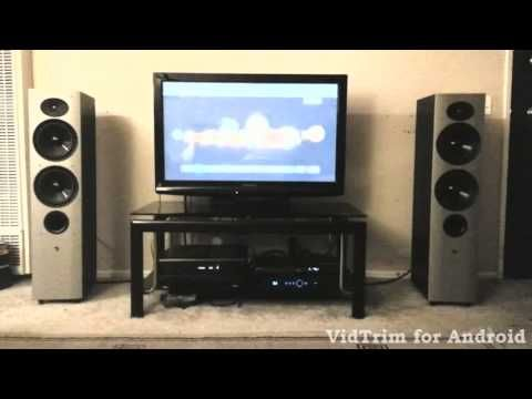 Athena AS-F2 Speakers Playing Metallica.  Audiophile speakers at a good price.  Very highly reviewed although Athena does not exist anymore these are gems if you can find them.