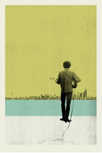 Dylan in Seattle poster by Concepcion Studios