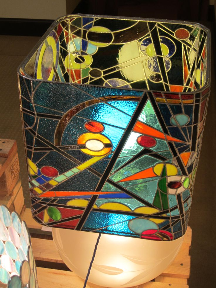 inspired by Kandisky, handmade stained glass lamp annasantandrea@hotmail.it