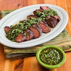 Grilled Flat Iron Steak Recipe with Chimichurri Sauce #glutenfree # ...