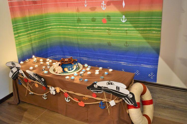 Nautical birthday decor Nautical party garland - anchor, life ring, ship, ship wheel