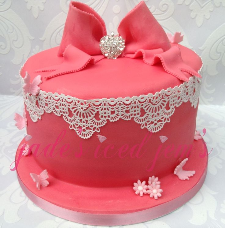 Pink Girly Bling Sparkly Cake Girly Style Pinterest