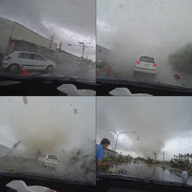 """Tornado """"zassało"""" samochód. http://tvnmeteo.tvn24.pl/informacje-pogoda/swiat,27/tornado-zassalo-samochod,175699,1,0.html"""
