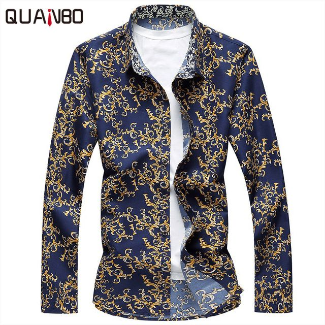 Buy now 2017 New Arrivals Plus size 6XL 7XL Mens Floral Shirts Spring Autumn Fashion Long Sleeve Shirt  Casual camisa masculina just only $13.49 with free shipping worldwide  #shirtsformen Plese click on picture to see our special price for you