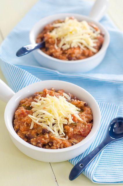Crockpot Quinoa Chicken Chili