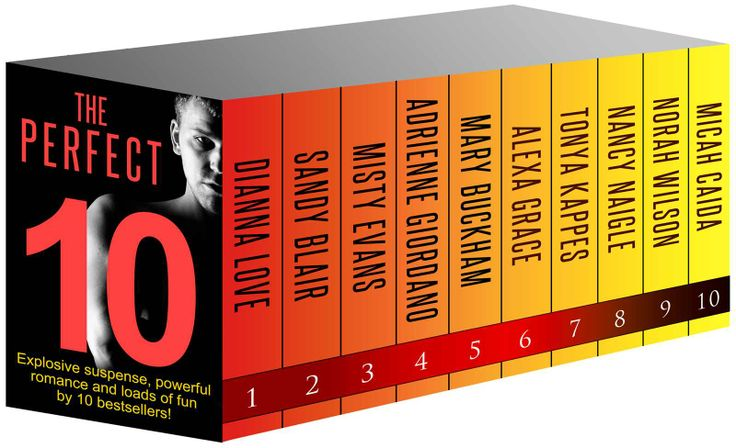 Amazon.com: THE PERFECT TEN: 10 Full novels by NYT and USA Today bestsellers (Boxed Set) eBook: Dianna Love, Sandy Blair, Misty Evans, Adrienne Giordano, Mary Buckham, Alexa Grace, Tonya Kappes, Nancy Naigle, Norah Wilson, Micah Caida: Books
