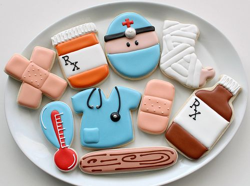 Medical cookie cut outs. These would be cute for my work. @Jayne Bode we should make these for your work sometime! :)
