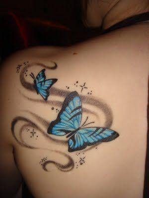 Flying Butterfly Tattoos: Tattoo Ideas, Blue Butterfly, Tattooideas, Butterflies, Body Art, Tattoo Design, Butterfly Tattoos, Tatoo