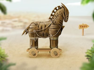 how to build a trojan horse for a school project