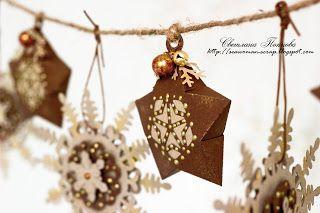 Новогодняя гирлянда звезды снежинки