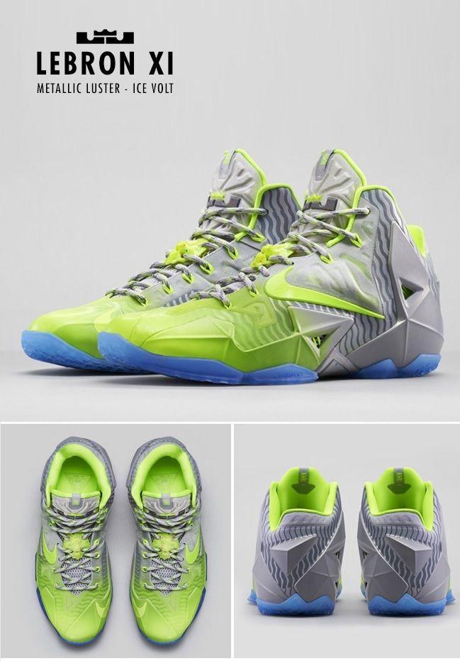 Nike Lebron XI Metallic Luster/Ice Volt