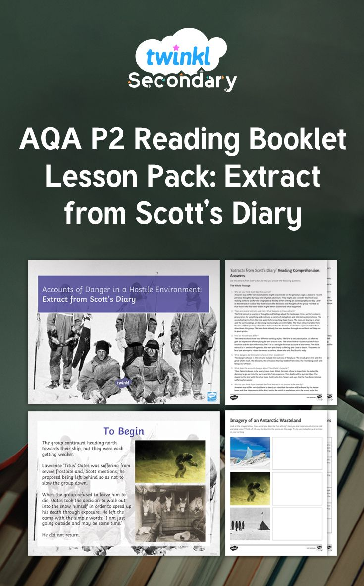 Best 25 aqa english language ideas on pinterest aqa gcse groups of resources for a lesson for the teaching of the extract extracts from scotts diary the extract itself is part of the aqa reading resource for fandeluxe Image collections