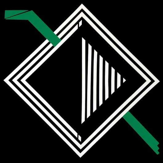"""Exposição de arte """"Janela da Alma"""" debate fuga em meio ao caos  com figuras geométricas feitas com fitas adesivas"""