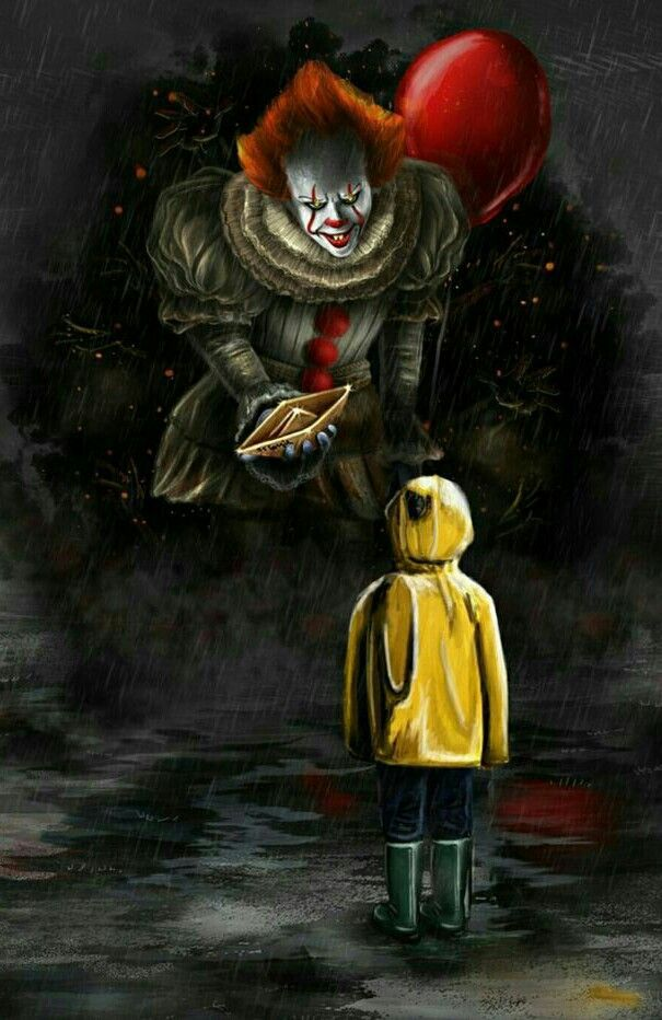 PENNYWISE AND Horror movie art, Horror art