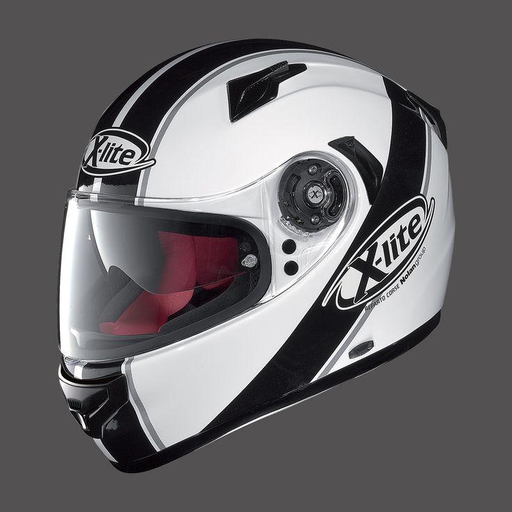 Caschi da moto Integrali X-LITE X-661 METAL WHITE BLACK STRIPES