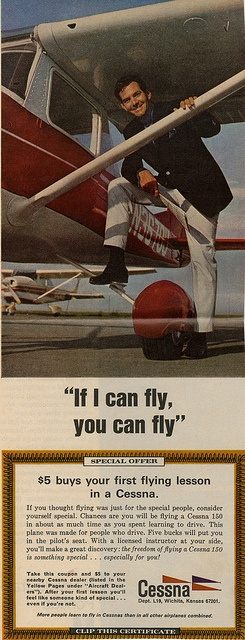 Cessna Oui si je peux piloter ça, toi aussi tu peux,
