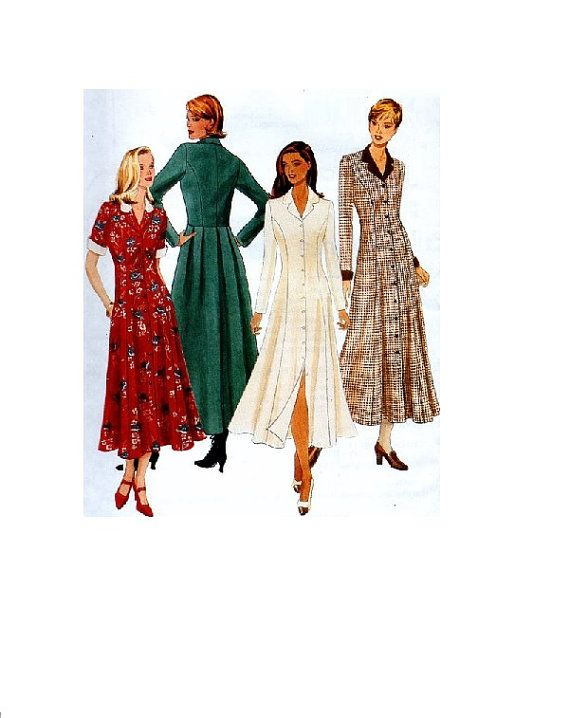 mccall s 8489 sewing pattern maxi coat dress button front