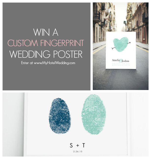 Win a Custom Fingerprint Wedding Poster from Flutterbye Prints