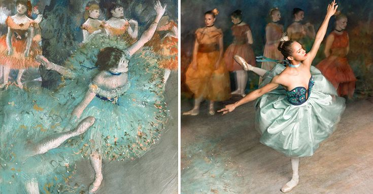 Misty Copeland, a 33-year-old ballerina is recreating Degas' paintings in real life.