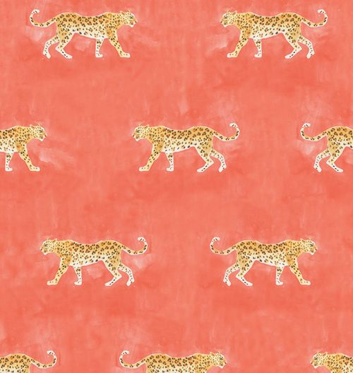 Caitlin McGauley's Panthera Wallpaper - This wallpaper is inspired by the artists' whimsical and delicate watercolor illustrations. Available now in The Market @ Studio Four NYC.