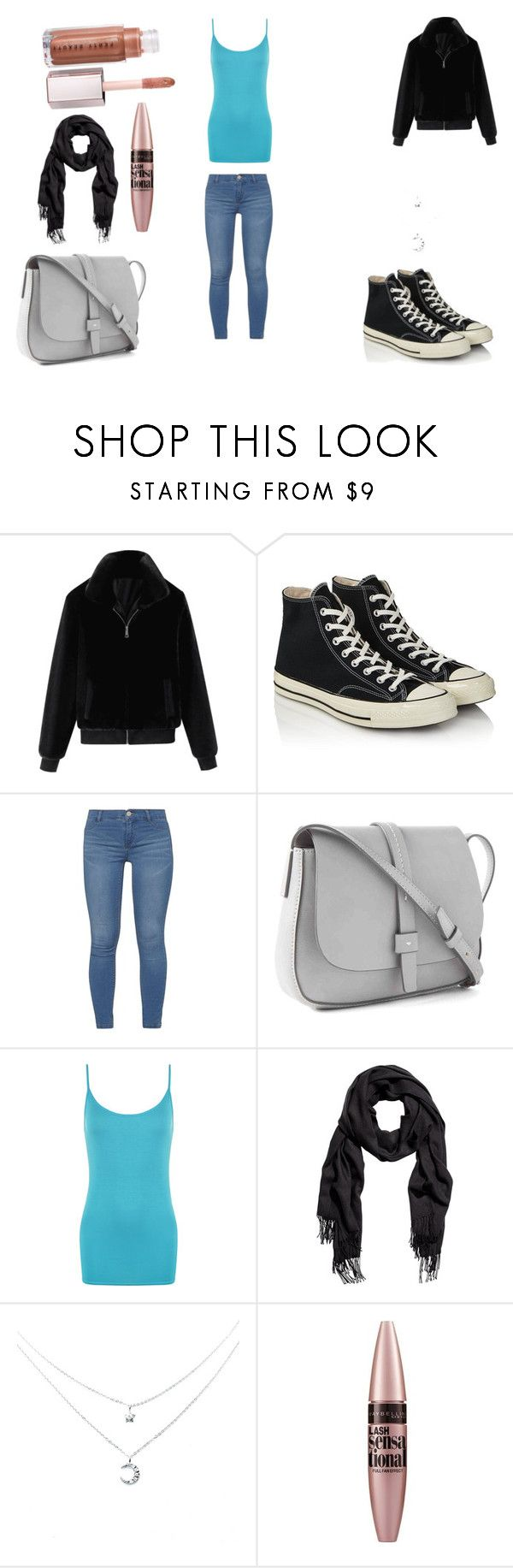 """""""Turquesa CM2"""" by mele97 ❤ liked on Polyvore featuring Converse, Dorothy Perkins, Gap, WearAll and Maybelline"""