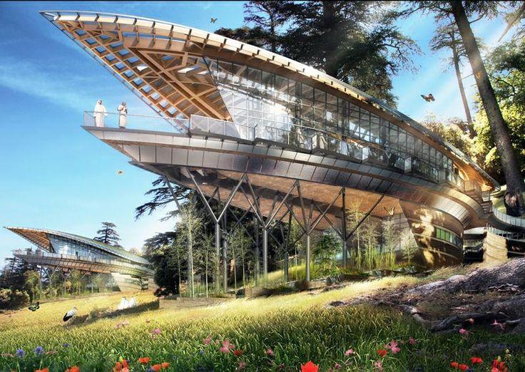 Vincent Callebaut Architectures - Kings Forest , a Rest Houses Complex, Fes 2012, Morocco