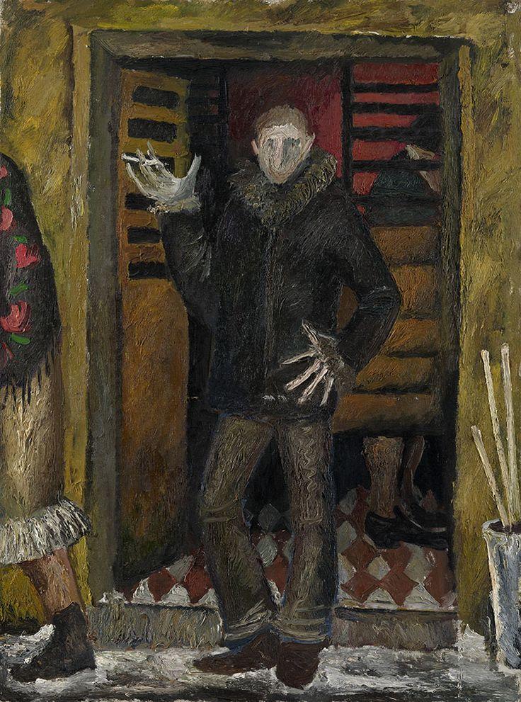 Self-Portrait, by Viktor Popkov (Russian, 1932-1974) - Oil on canvas, 109.5 by 81.5 cm.