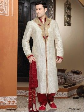 Wedding Semi Stitched Sherwani