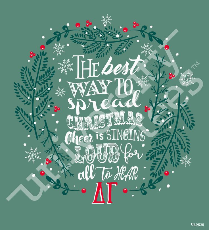 The best way to spread Christmas cheer is singing loud for all to hear  made by University Tees I apparel designs   custom sorority apparel