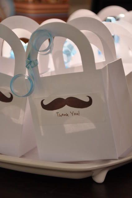 Mustache party favors
