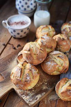 Kartoffel-Dinkel-Brötchen: Frühstück? - Das Knusperstübchen