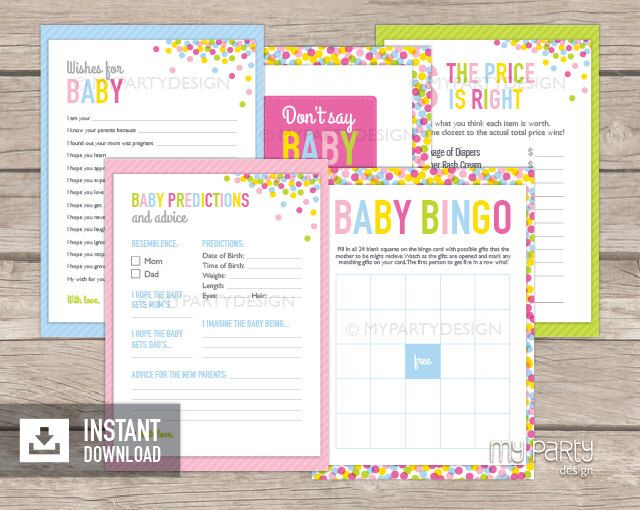 Baby Sprinkle Games - Baby Shower - INSTANT DOWNLOAD - Printable PDF by mypartydesign on Etsy https://www.etsy.com/listing/193280928/baby-sprinkle-games-baby-shower-instant