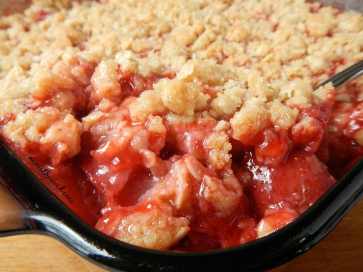 Homemade Strawberry Crisp is a fresh, easy and fantastic dessert! Use fresh or frozen strawberries to create this simple family friendly dessert!