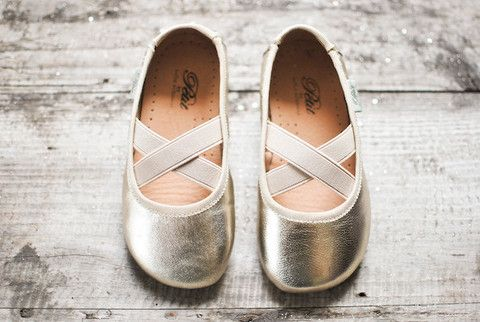 Champagne Ballerina Leather Shoe