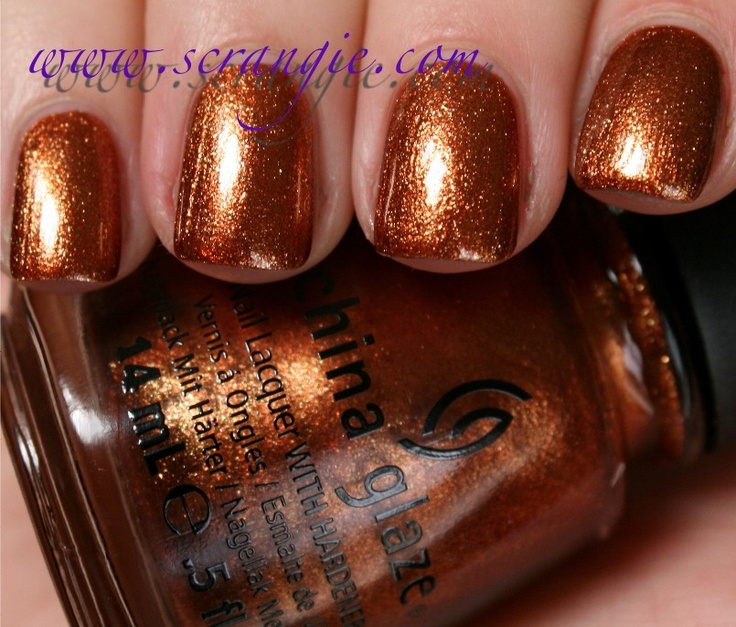 **China Glaze - Harvest Moon (The Hunger Games Capitol Colors Collection Spring 2012) / Scrangie